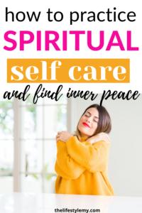 how to practice spiritual self care