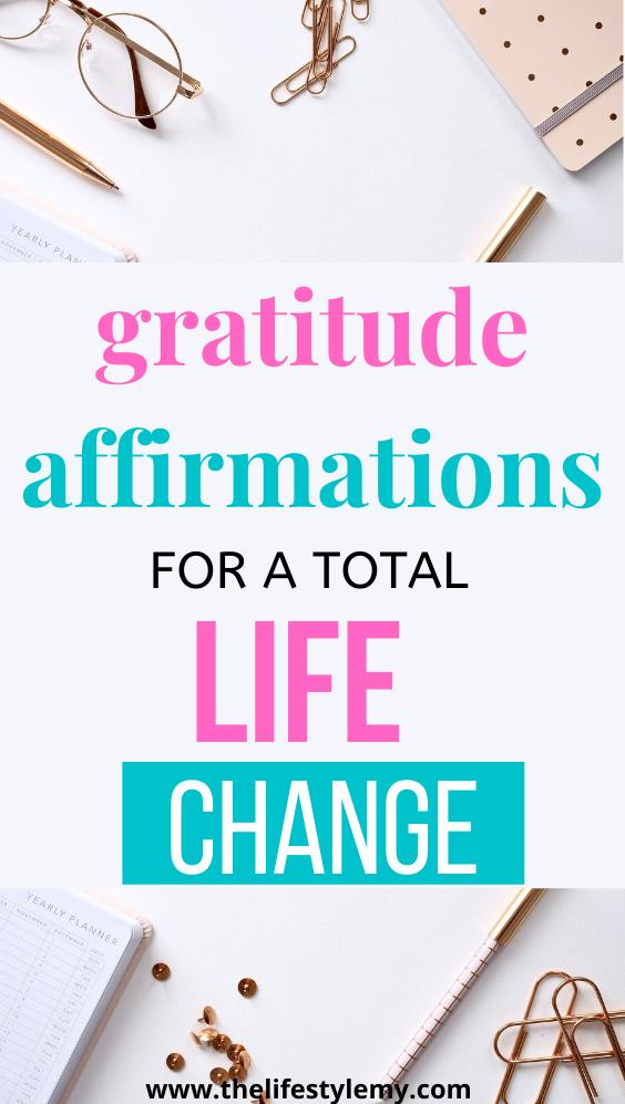 Gratitrude Affirmations