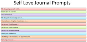 prompts for self love